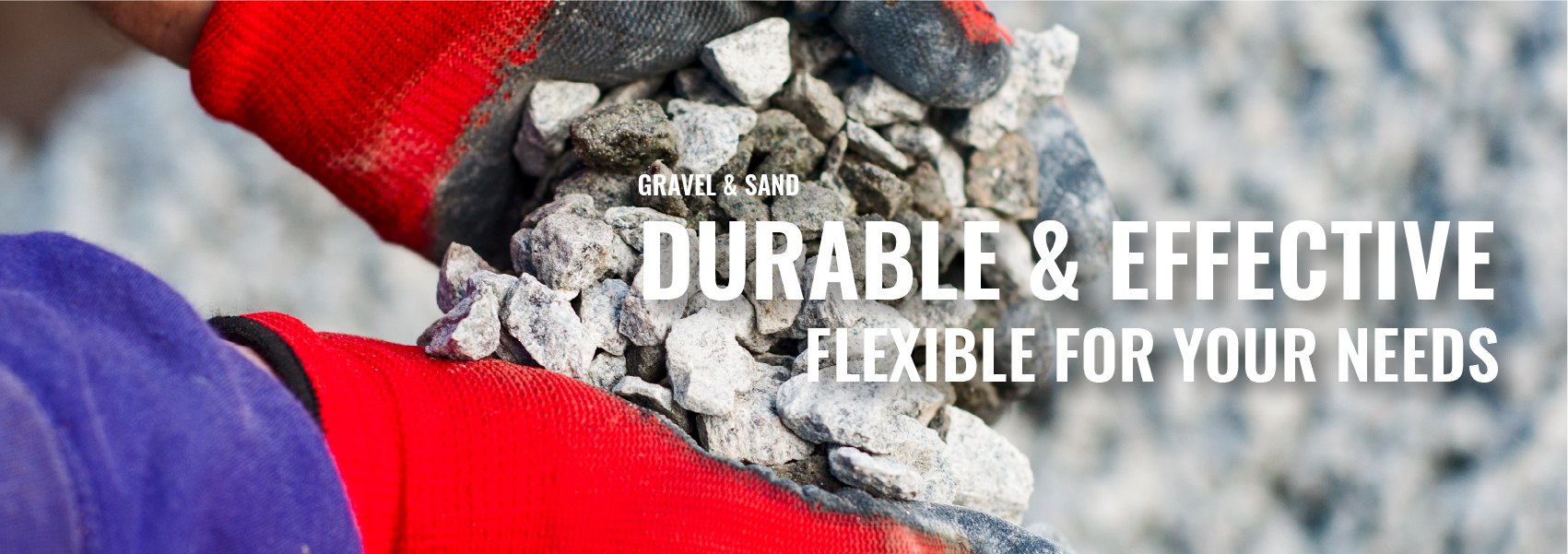 Rockland gravel and sand products banner.