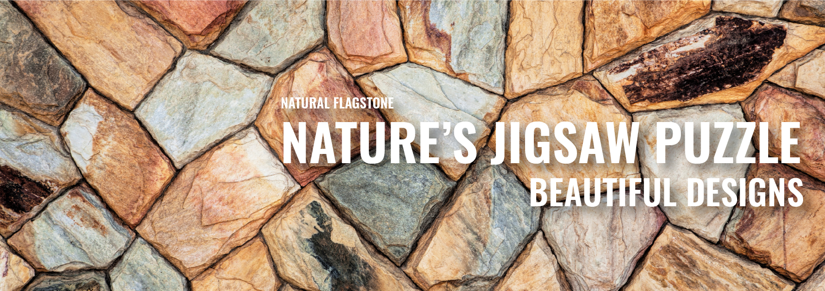 Rockland natural flagstone products banner.